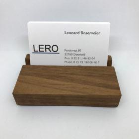 Visitenkartenhalter aus Holz