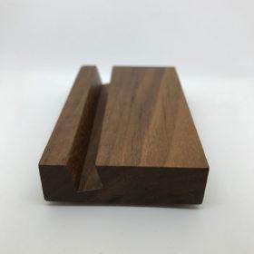 Visitenkartenständer aus Holz (Seitenansicht)